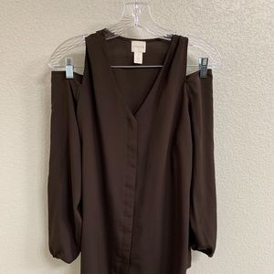Chico's Long Sleeve Cold Shoulder Blouse 1